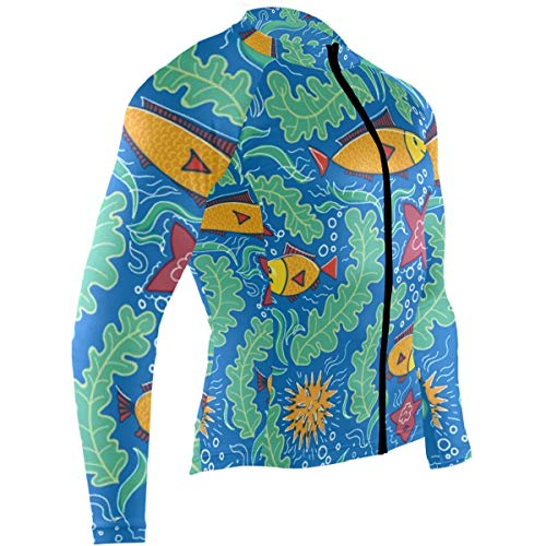 SLHFPX Starfish Coral Crab Mens Cycling Jersey Jacket Long Sleeve Mountain Riding Apparel Outfit