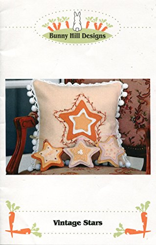Bunny Hill Designs Pattern ~ Vintage Stars Pillow and Ornament