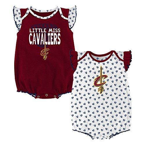 NBA Newborn & Infant 'Heart Fan' 2 Piece Onesie  Cleveland Cavaliers-Burgundy-3-6 Months