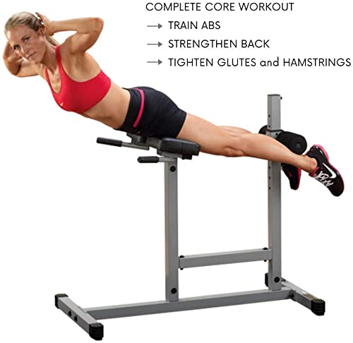 Body-Solid Powerline PCH24X Adjustable Hyper Extension Roman Chair for Ab, Core, and Back Workouts
