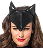 Leg Avenue Women's Feline Femme Fatale Mask Costume Accessory, Black, One Size