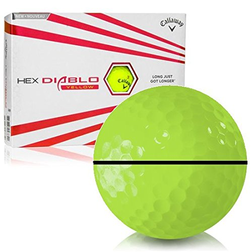 Callaway Golf HEX Diablo イエローアライグXL パーソナライズゴルフボール   B07JFFNT28