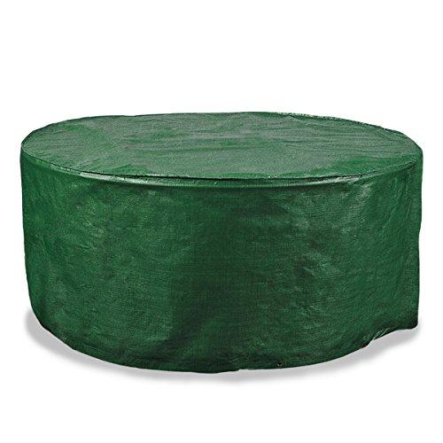 Schutzhülle für runden Gartentisch |schnelltrocknend, pflegeleicht | 125 x 81 cm