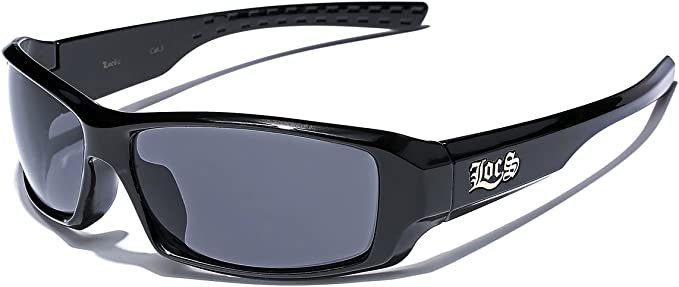 Locs Metal Rim Frame Original Gangsta Shades Men/'s Hardcore Shield Sunglasses