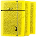 Air Ranger Replacement Filter Pads 18x20 (3 Pack) YELLOW