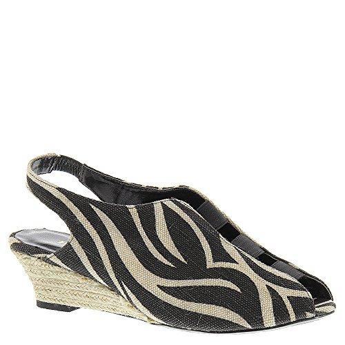Proxy Shasta Dames Slip Op Tan-zwart-zebra
