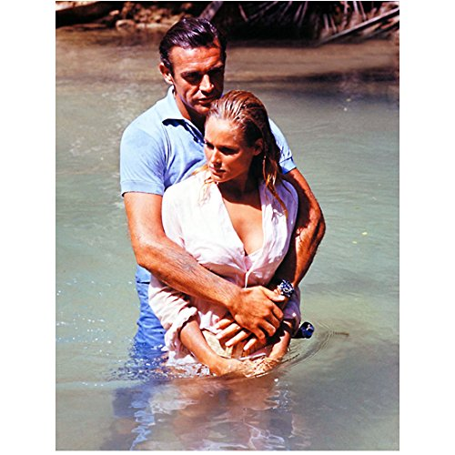 Sean Connery as James Bond Holding Sexy Ursula Andress as Honey Ryder in Dr. No 8 x 10 Inch Photo