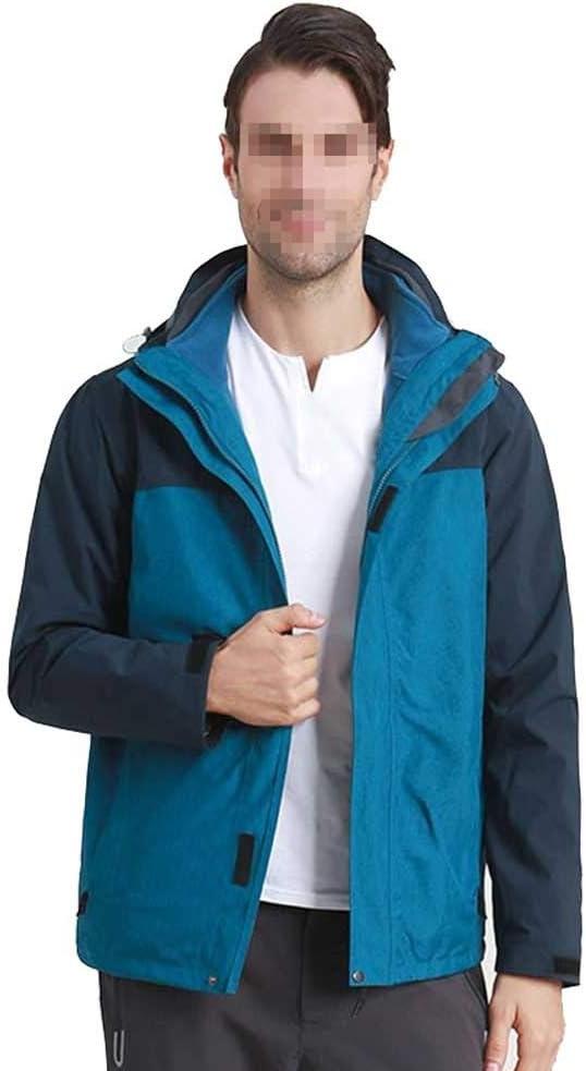 スキーウェア スノーボード メンズマウンテン防水スキージャケット用防風レインジャケット (色 : Peacock 青, サイズ : XXXL) Peacock 青 XXXL