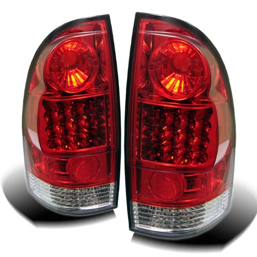 Housing Clear Spyder Red - Spyder Auto Toyota Tacoma Red Clear LED Tail Light