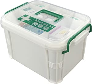 Nicesh Storage Box Organizer/Medicine Box/ Family Emergency Kit Storage Box