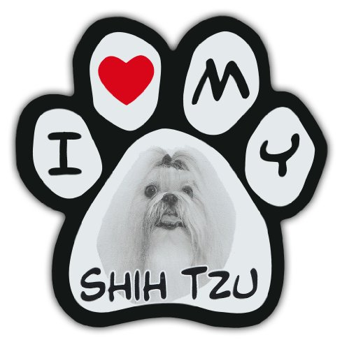 - Picture Paws   Dog Paw Shaped Magnets: I LOVE MY SHIH TZU   Car Magnet
