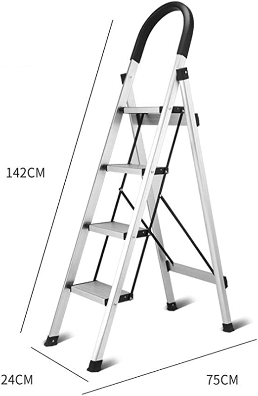 HYYDP Escalera Escalera multifunción Estante de Secado Plegable for el hogar Escalera de Doble Uso Escalera Gruesa de Aluminio (Color : Black): Amazon.es: Hogar