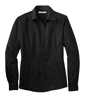 Port Authority Women's Long Sleeve Non Iron Twill Shirt at Amazon ...