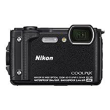 """Nikon W300 Waterproof Underwater Digital Camera with TFT LCD, 3"""", Black (26523)"""