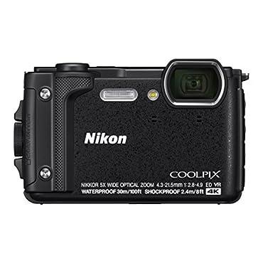 Nikon W300 Waterproof Underwater Digital Camera with TFT LCD, 3, Black (26523)