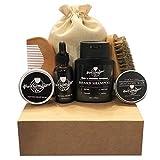 Keep It Clean Beard Co. Premium 7 in 1 Complete Beard Care Grooming kit – 100% All Natural Ingredients: Beard oil, Beard balm, Beard Shampoo, Mustache Wax, Beard Comb, Beard Brush, Travel Bag Review