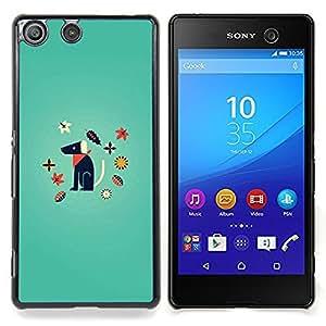For Sony Xperia M5 - minimalist dog puppy cartoon /Modelo de la piel protectora de la cubierta del caso/ - Super Marley Shop -