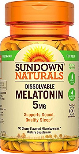Amazon.com : Sundown Naturals Melatonin 5 mg, 90 Quick Dissolve Microlozenges by Sundown Naturals : Baby