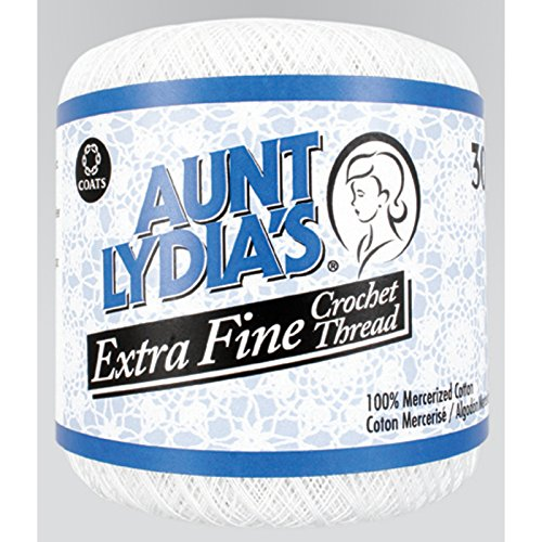Aunt Lydia'S Extra Fine Crochet Thread Size 30-White by Aunt Lydia's