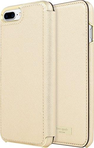 Incipio Apple iPhone 7 Plus/8 Plus Kate Spade New York Folio Case - Gold Folio (Folio Suede Case)