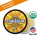 Organic Paw Balm for Dogs & Cats   All Natural Soothing & Healing for Dry Cracking Rough Pet Skin   Protect & Restore Cracked and Chapped Dog Paws & Pads   Better Than Paw Wax 2oz