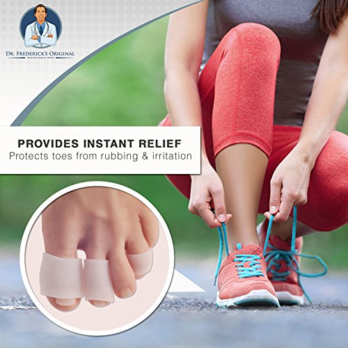 Dr Frederick's Original Gel Toe Tubes 12 Piece Variety Pack - Small, Medium and Large Sizes - Toe Protectors & Separators for Calluses - Blisters - Corns by Dr. Frederick's Original (Image #4)