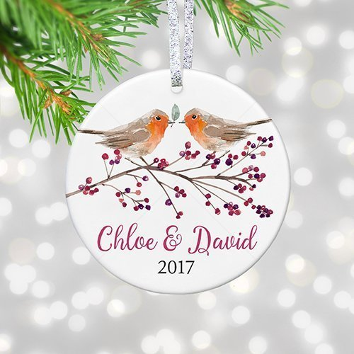 personalized our first christmas together 2018 couple keepsake ornament gift boho boyfriend girlfriend 1st