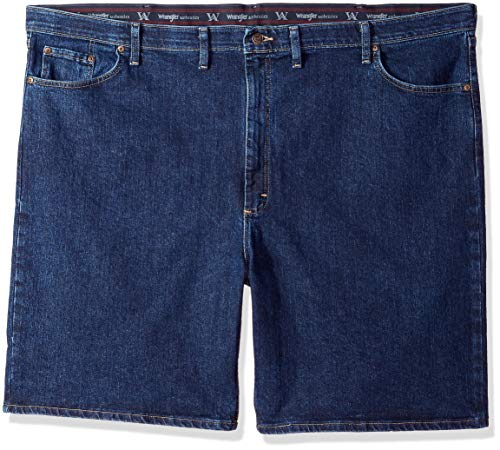 Wrangler Authentics Men's Big and Tall Comfort Waist Denim Short, Dark Stonewash, 54 by Wrangler