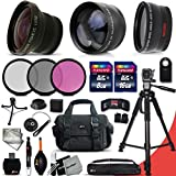 Deluxe 28 Piece Accessory Kit for Canon EOS Rebel T6i T6S T5i T5 T4i T3i T3 T2i 750D 70D 60D 60Da 700D 650D 600D 550D 1200D 1100D 100D SL1 EOS M3 M2 7D Mark II 5D Mark II EOS 5D Mark III XS XSi XT XTi Kiss X50 kiss X70 Kiss X7i Kiss X6i Kiss X5 kiss X4 DS