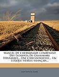 Manuel de L'Hebraïsant, Jean Baptiste Glaire, 1274686156