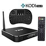 Easytone T95 Android 5.1 Lollipop 4K Streaming Media Player Amlogic S905 Quad Core 1GB/8GB Smart TV Box with Metal housing - KODI(XBMC) Fully Loaded,Support UHD 4K with I8 Wireless Keyboard