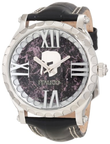 Italico Men's ITCS02-F Colosseum Black Marbleized Dial Leather (Italico Leather)