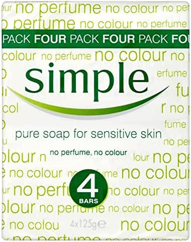 Simple Pure Soap for Sensitive Skin (4x125g)