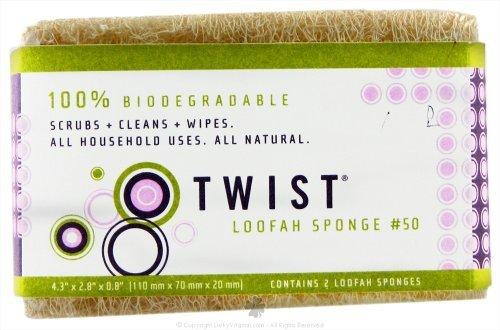 Twist Loofa Sponge, 2-Ounce (Pack of 12)