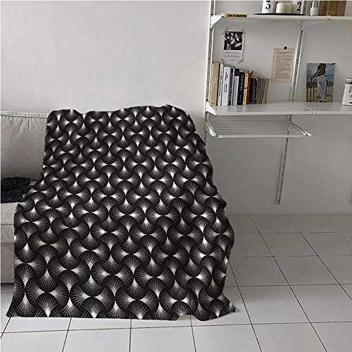 Suchashome Abstract Blanket Cozy,Futuristic Geometric Background Design