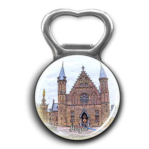Inner Court & Hall of the Knights Hague Holland Netherlands Opener Metal Fridge Magnet Crystal Glass Round Beer Bottle Opener City Souvenir Home Kitchen Decoration Gifts
