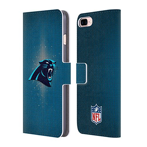 Official NFL LED 2017/18 Carolina Panthers Leather Book Wallet Case Cover For Apple iPhone 7 Plus / 8 ()