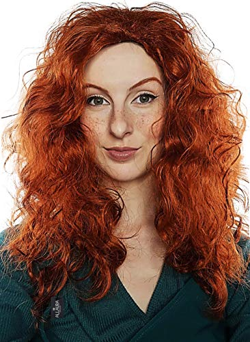 Red Arrow Halloween Costumes Girl - Brave Princess Wig Long Red Curly
