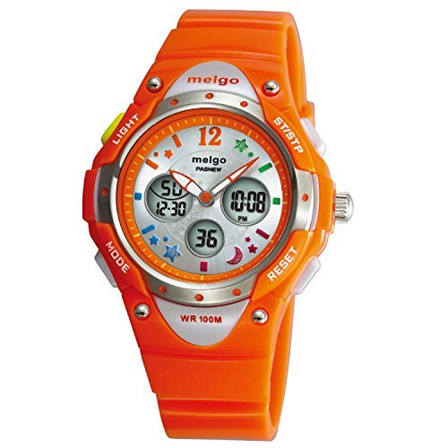 WISE® Kids Watches, Girls Watches, Childrens Watch, Waterproof Watches, Sports Watches, Analoge Digital Watches, Dual Time Waterproof 100m Sports Casual Wrist Watches Orange