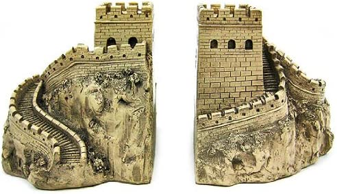 Amazon.com: Things2Die4 Great Wall of China Sculptural Book Ends Bookends: Home & Kitchen