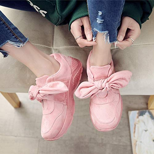 Moda Grey Primavera Zapatos Lace Sneakers Hembra Suaves Cómodos Y XINGMU Up Mujer Planos Calzado Nudo Gris Mariposa Mujer Otoño Casual Zapatos 4xXZqZIF