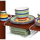 Ybm Home, Under Shelf Storage Organizer Basket, Kitchen Pantry Wrap Rack 12-inch, White #2081 by Ybmhome