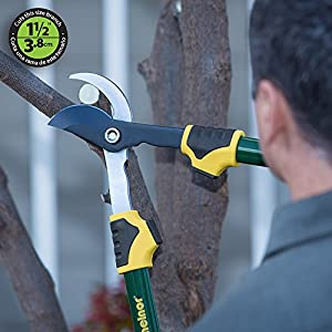"""Melnor 27"""" Bypass Loppers with Non-Stick Coated Blade; Cuts 1.5"""" Branches"""