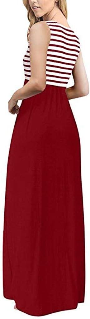 CAOQAO elegancka damska sukienka balowa, sukienka ślubna, odświętna sukienka z dzianiny na lato, bez rękawÓw, okrągły dekolt, długa: Odzież
