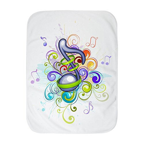 Truly Teague Baby Blanket White Music Note colorful Burst by Truly Teague
