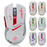 WeiYun White 2.4G Adjustable 2400 DPI Wireless 7 Colors Optical Mouse Mice For Computer PC Laptop