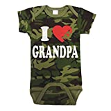 I Love Heart My Grandpa Baby One Piece 18 Months Camo