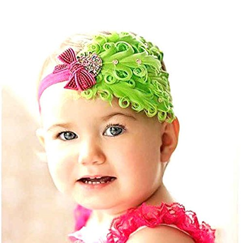 DDU (TM) 1 Pcs Groenland Belle Plume tête d'usure Bandeau pour bébé nouveau-né Toddler Girls