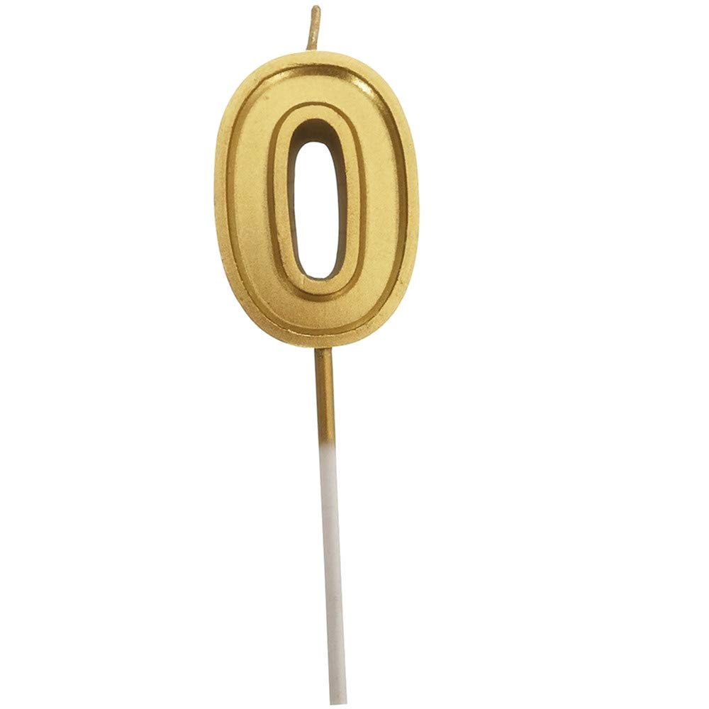 Yevison Gold Number Birthday Numeral Candles Number Cake Decor for Adults/Kids Party Durable and Useful