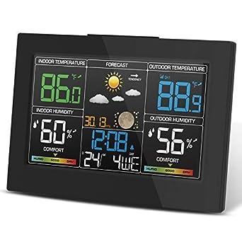 Indoor Outdoor Barometer LCD Digital Forecast Sensor Weather Station Wireless